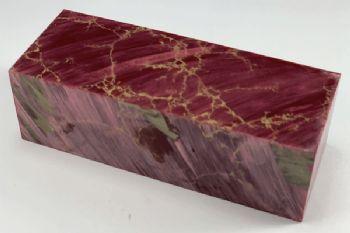 Red with Gold Matrix Tru-stone Block 1.2